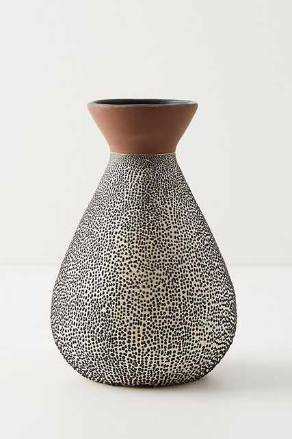 Spotted Ceramic Vase - Anthropologie