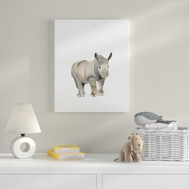 'Rhino Animal' Art - Wayfair