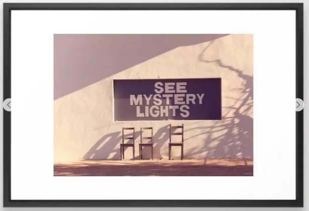 See Mystery Lights - Marfa, Texas Framed Art Print - Society6