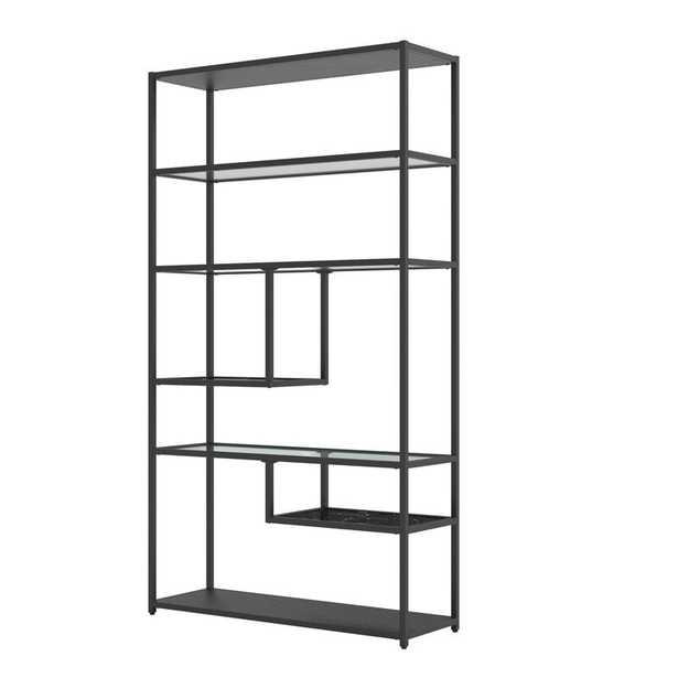 Lilyana 72'' H x 40'' W Steel Geometric Bookcase - Wayfair