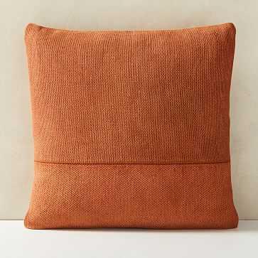 """Cotton Canvas Pillow Cover, Set of 2, Copper Rust, 18""""x18"""" - West Elm"""