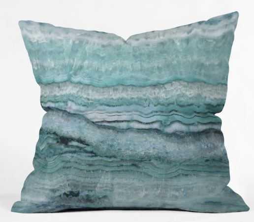 Mystic Stone Aqua Teal Pillow - Wander Print Co.