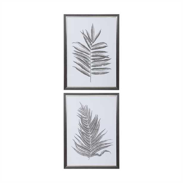 Silver Ferns Framed Prints, S/2 - Hudsonhill Foundry