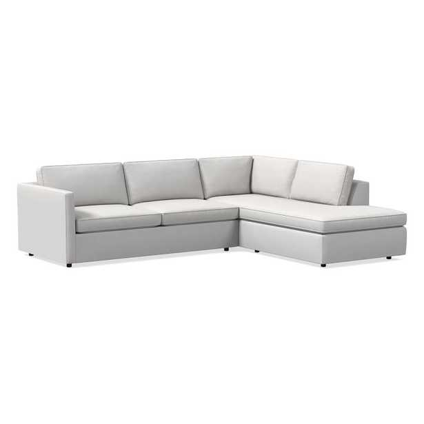 """Harris Sectional Set 11: Left Arm 75"""" Sofa, Right Arm Terminal Chaise, Poly, Eco Weave, Oyster, - West Elm"""