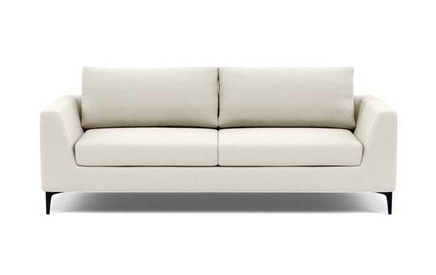"ASHER Sofa Chalk Matte Black Legs 81"" - Interior Define"
