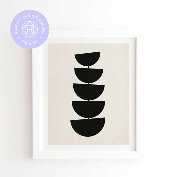 """Stem by Rose Beck - Framed Wall Art Basic White 11"""" x 13"""" - Wander Print Co."""