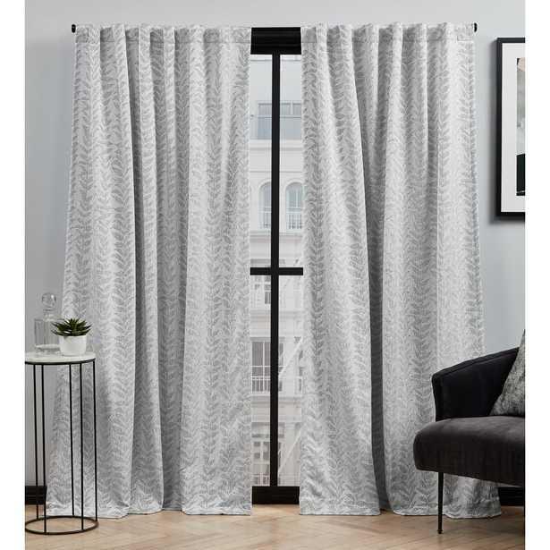 Toni Floral Semi-Sheer Rod Pocket Curtain Panels (Set of 2) - Wayfair