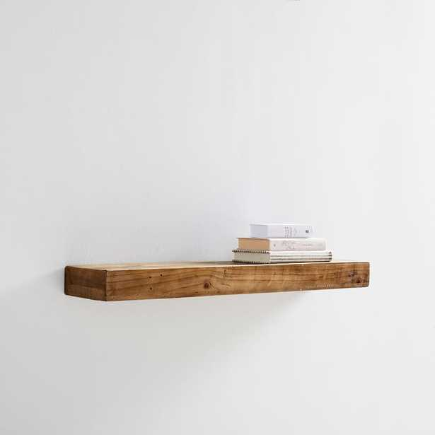Reclaimed Wood Floating Shelf- 3 Ft, Reclaimed Pine - West Elm