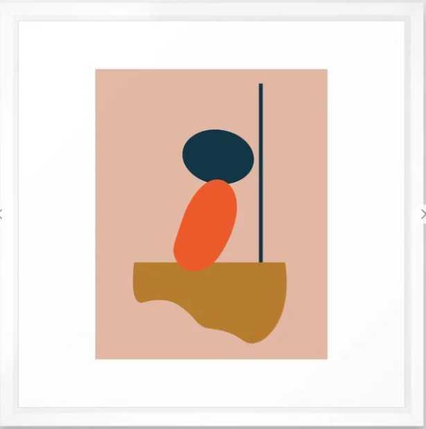 Abstract #1 Orange Blue Beige Framed Art Print - Society6