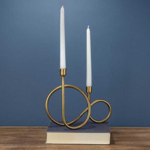 Taper Metal Candlestick - Wayfair
