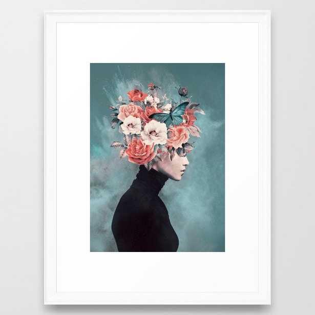 blooming 3 Framed Art Print, Scoop White, 20x26 - Society6