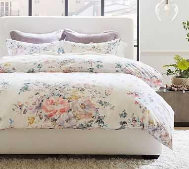 Kinsley Floral Organic Cotton Duvet Cover, King/Cal King, Multi - Pottery Barn