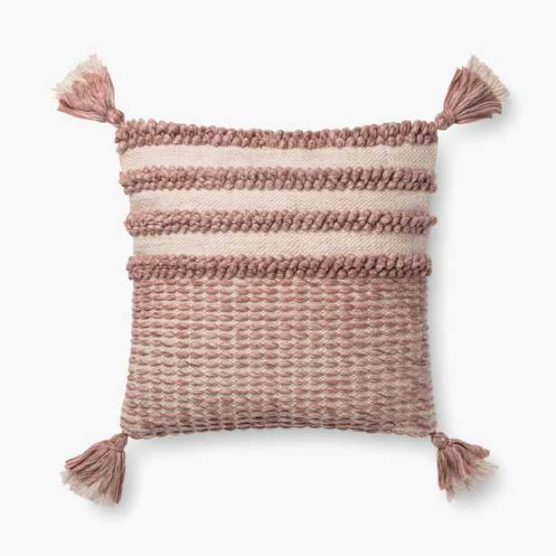 """Loloi PILLOWS P0703 Blush / Ivory 18"""" x 18"""" Cover w/Poly - Loma Threads"""