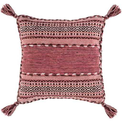 "Azariah Pillow Cover, 20""x 20"", Pink - Roam Common"