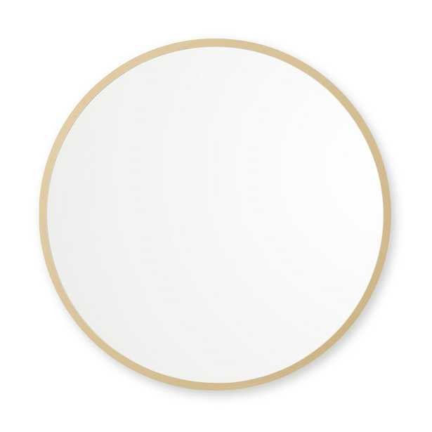 36 in. x 36 in. Rubber Framed Round Single Mirror in Matte Gold36 in. x 36 in. Rubber Framed Round Single Mirror in Matte Gold - Home Depot