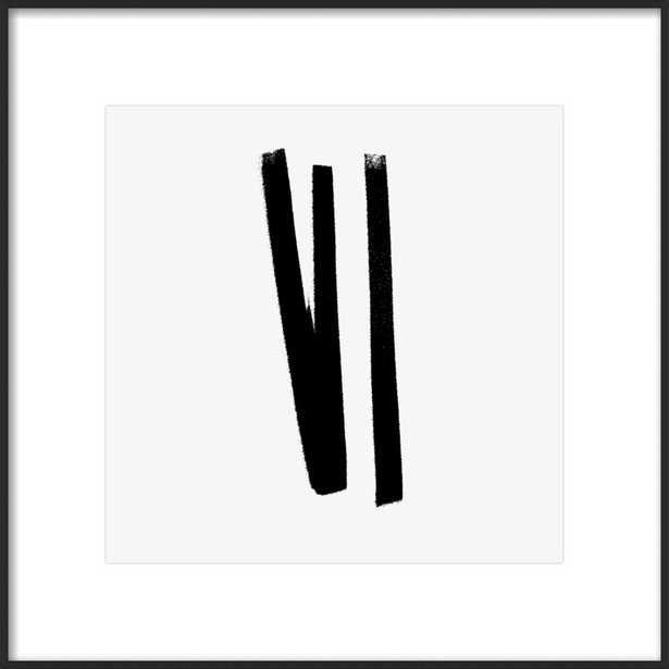 Lines 2, 1 - Framed Art Print - Matte Black Meta - Artfully Walls
