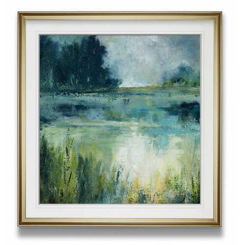 'Reflections Edge' Painting - Gold Frame - Wayfair