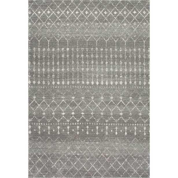 "Clair Geometric Dark Gray Area Rug, 6'7"" x 9' - Wayfair"