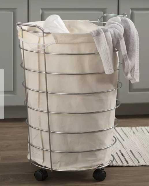 Wayfair Basics Rolling Laundry Hamper - Wayfair