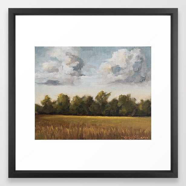 Sunkissed and Breezy Framed Art Print - 22x22 - Vector Black Frame - Society6