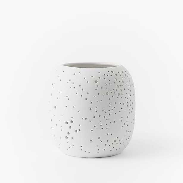 Pierced Porcelain Hurricanes + Vases - Constellation Small - West Elm
