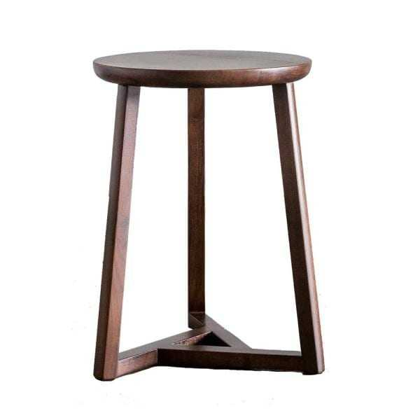 Gingko Oslo 19 in. Classic Walnut Side Table - Home Depot