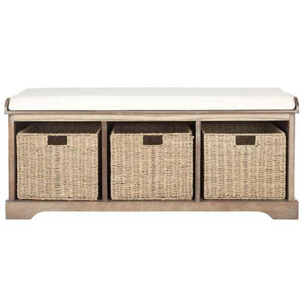 Seminole Wood Storage Bench - Wayfair