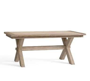 "Toscana Extending Dining Table, Medium, Seadrift_74""-104"" - Pottery Barn"