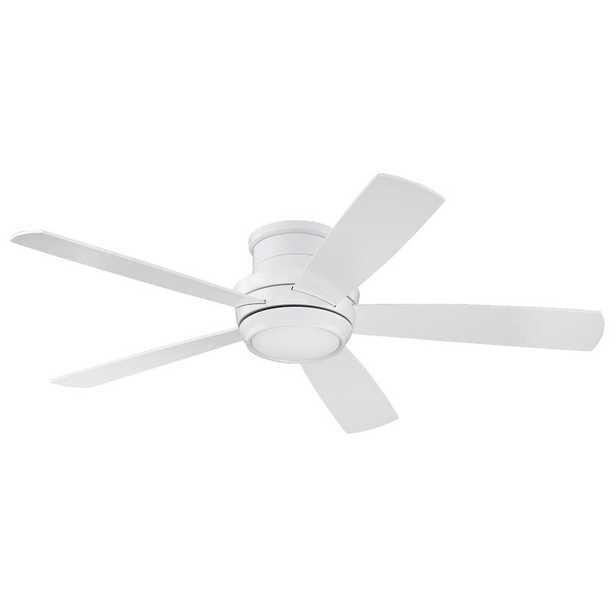 "52"" Cedarton Hugger 5 Blade Ceiling Fan with Remote, Light Kit Included - Wayfair"
