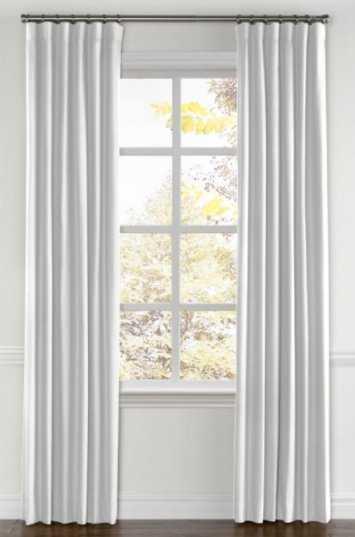 CUSTOM Classic White Linen Drapes - Loom Decor
