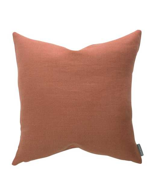 """SEDONA RUST SOLID PILLOW COVER - 20"""" X 20"""" - McGee & Co."""