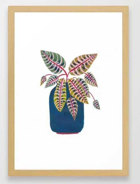 Potted Prayer Plant Framed Art Print - Society6
