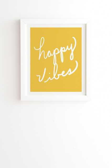 HAPPY VIBES YELLOW - Wander Print Co.