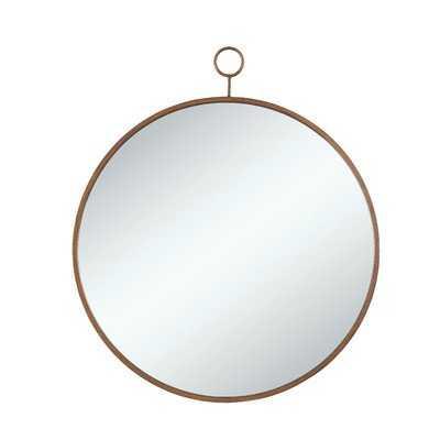 Round Gold Wall Mirror - Wayfair