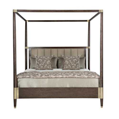 CLAREDON UPHOLSTERED CANOPY BED - Perigold