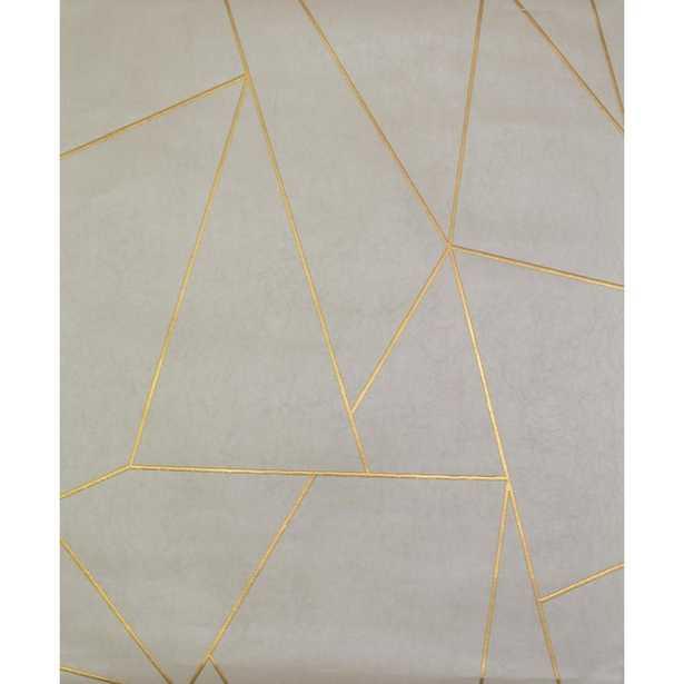 "Nazca 32.8' L x 20.8"" W Metallic/Foiled Wallpaper Roll - Wayfair"