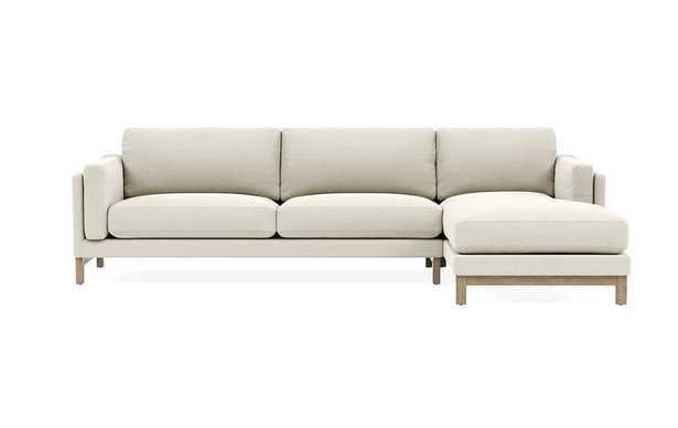 GABY 3-Seat Right Chaise Sectional Double down blend - Interior Define