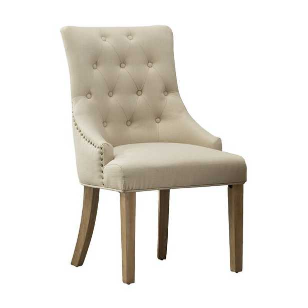 Miles City Button Tufted Wingback Hostess Upholstered Dining Chair (Set of 2) - Wayfair