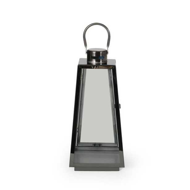 Grace Modern Stainless Steel Outdoor Lantern - Wayfair