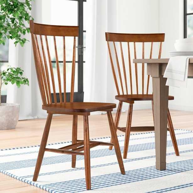 Spindle Solid Wood Windsor Back Side Chair (Set of 2) - Wayfair