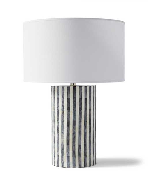 Bar Harbor Bone Inlay Table Lamp - Fog - Serena and Lily