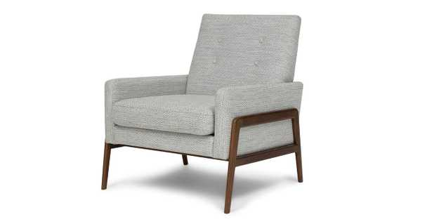Nord Galaxy Gray and Walnut Chair - Article