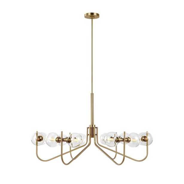 12 - Light Candle Style Classic / Traditional Chandelier /  Burnished Brass - Perigold
