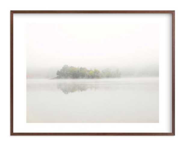 "The Island - 40"" x 30"", walnut frame, white border - Minted"