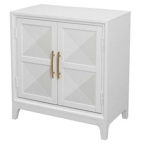 Murray Geometric Front 2 Door Accent Cabinet - Wayfair