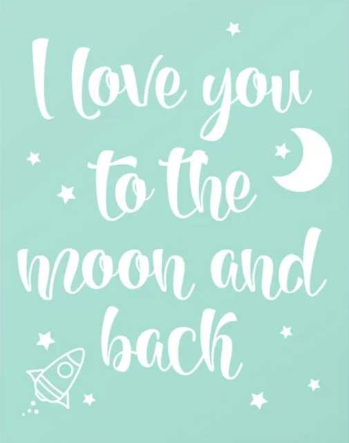To the moon and back Canvas Print - Society6