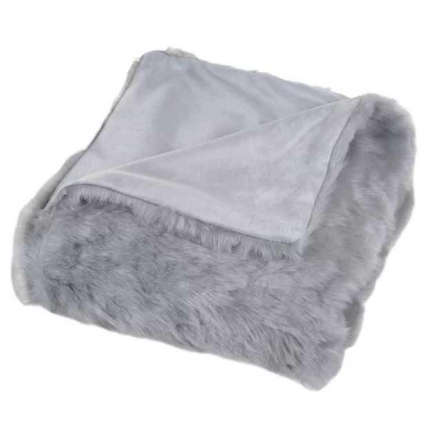 Hanah Faux Fur Throw Blanket - Wayfair
