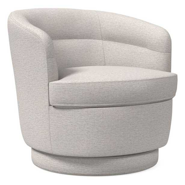 Viv Swivel Chair, Twill, Wheat, Concealed Supports - West Elm