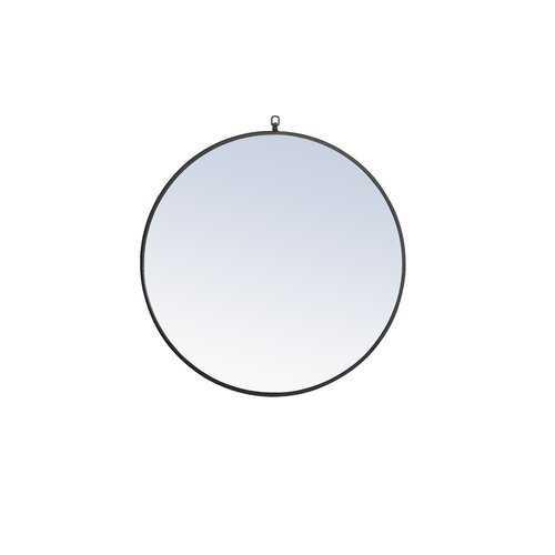 """Yedinak Modern Distressed Accent Mirror-black, 32""""x32"""" - Wayfair"""