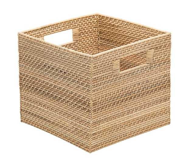Rectangle Coastal Rattan Storage Basket - Birch Lane